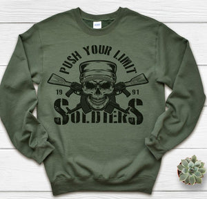 Push your limit Soldiers- tshirt