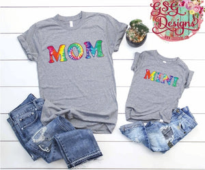 RTS Rainbow Tiedye- MOM & Mini