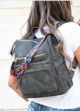 Load image into Gallery viewer, Gray casual versatile backpack