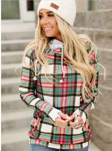RTS Multicolor plaid Cowlneck