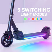 E9 Pro Electric Kid Scooter with Ambient lighting, 3 Speed Modes & Height-Adjustable Handle Bars