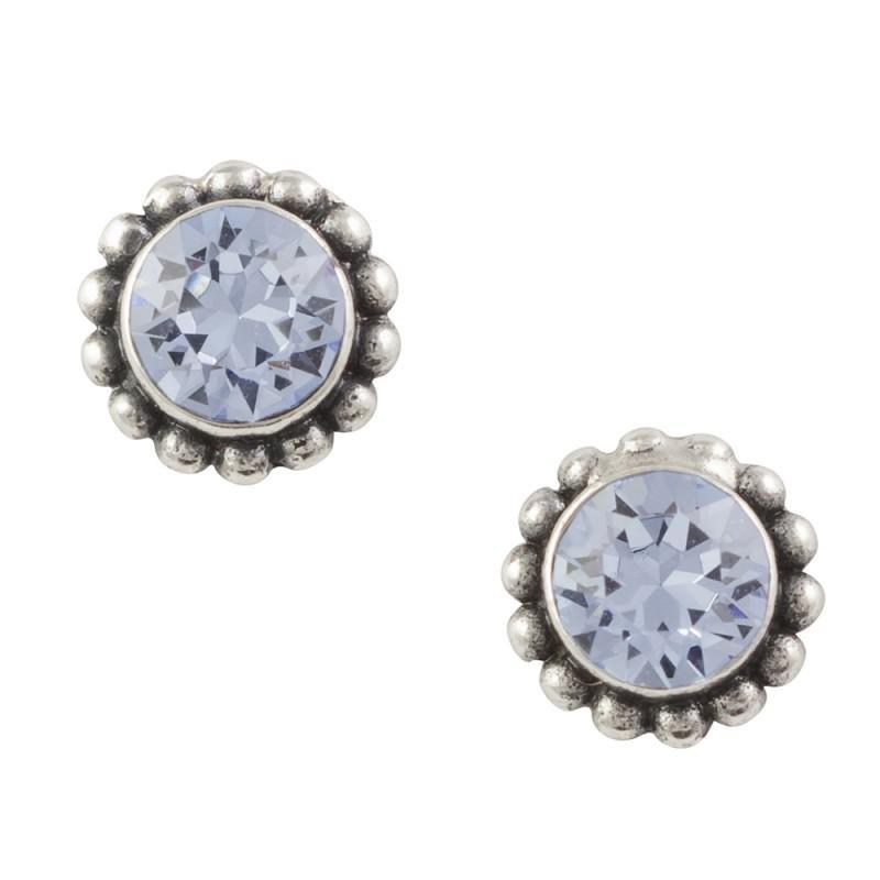 Bali Crystal Studs    (3 Colors)