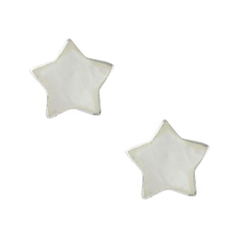 XXS Mother of Pearl Star Studs