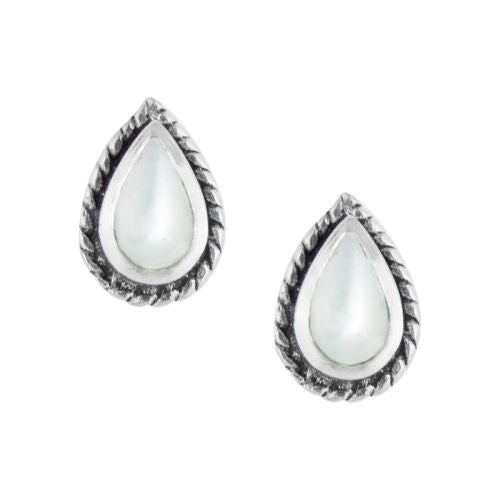 Mother Of Pearl Teardrop Stud