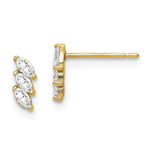 14K Stacked Marquis Earring