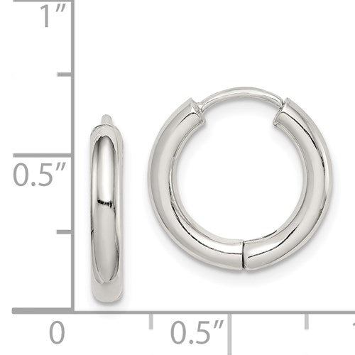 Silver Hollow Hoop Earring