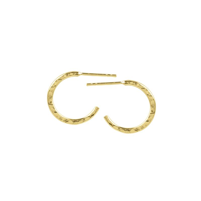 Gold Hammered Half Hoops