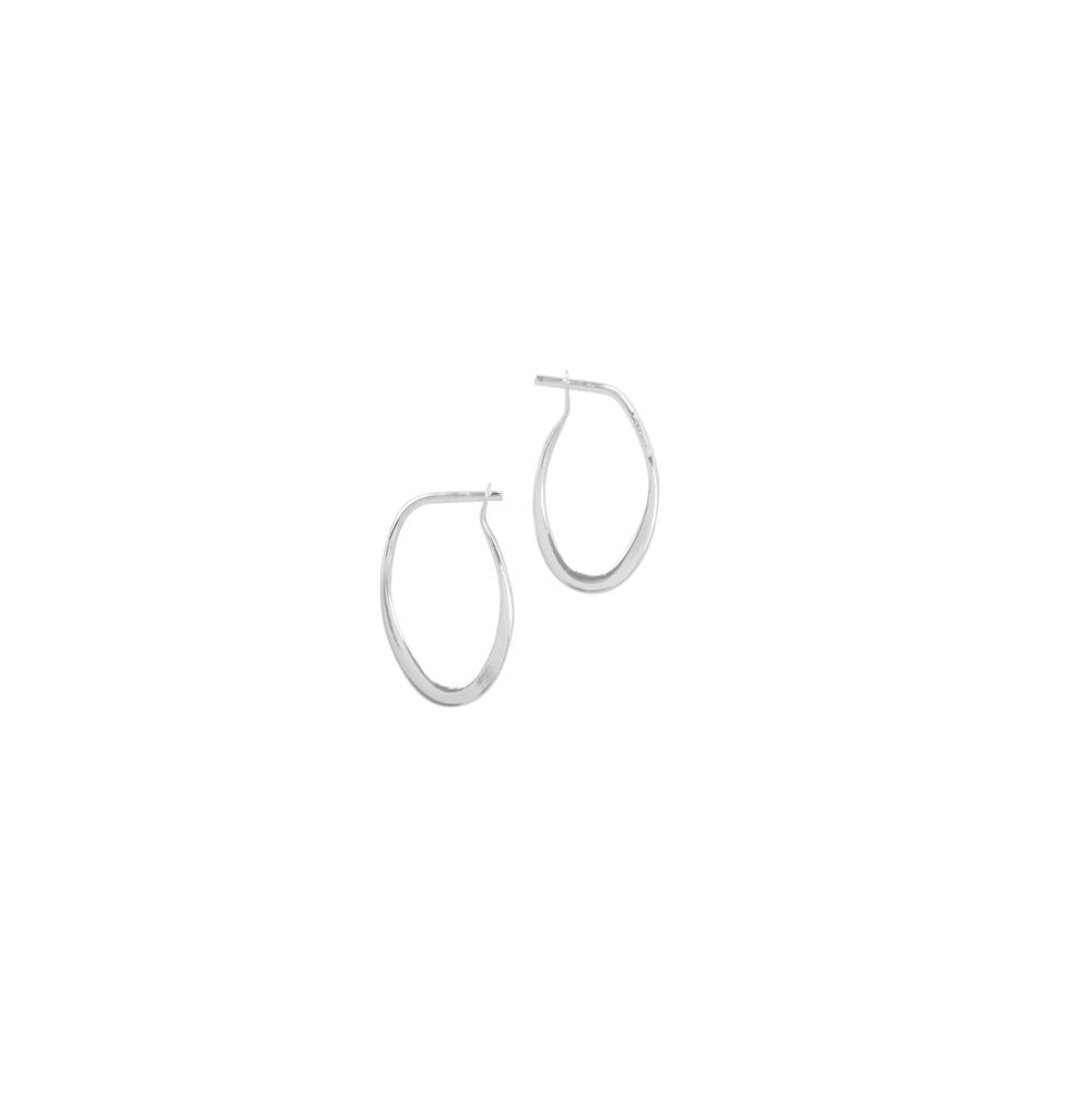 Oblong Silver Sleeper Hoops