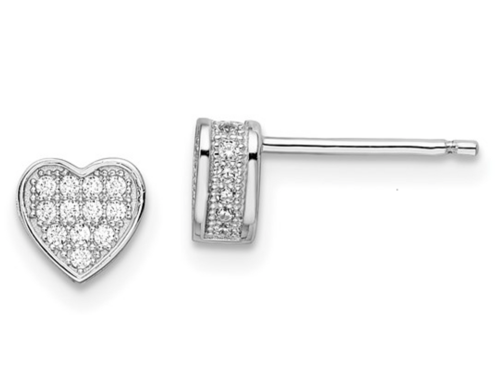 Brilliant Embers CZ Heart