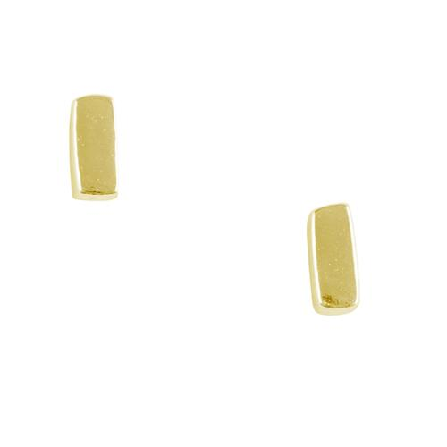 Small Gold Bar Stud