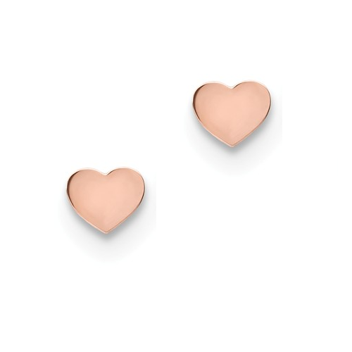 Heart Stud - Rose