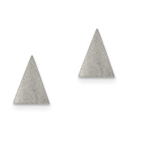 Brushed Triangle Stud