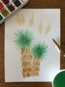 Soaptree Yucca Greeting Card