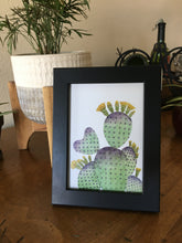 Load image into Gallery viewer, Purple Green Prickly Pear Heart