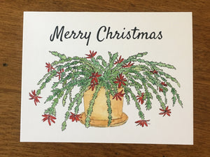 Merry Christmas Cactus Greeting Card