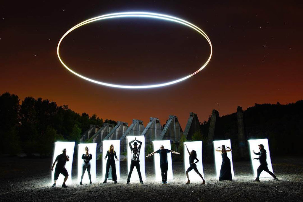 Drone Lighting Painting with Long Exposure