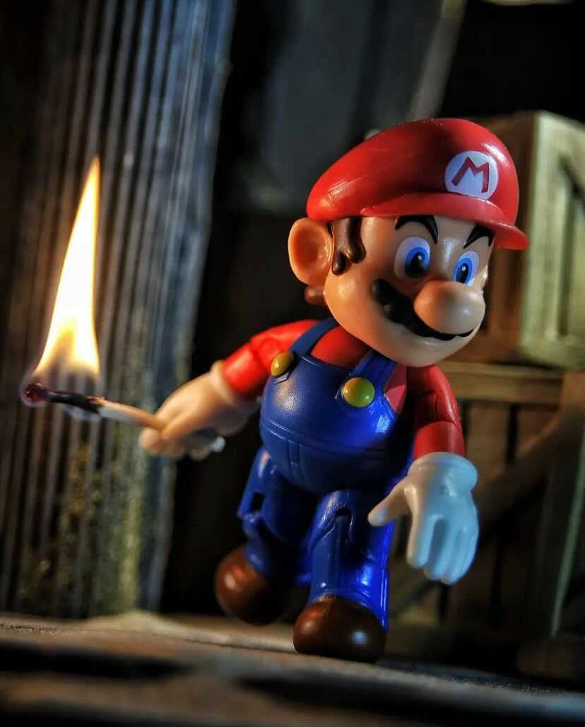 toy photography of character Mario