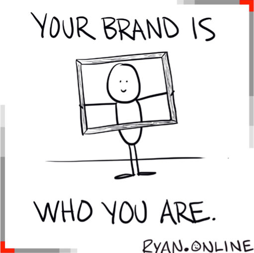 cartoon that states your brand is who you are