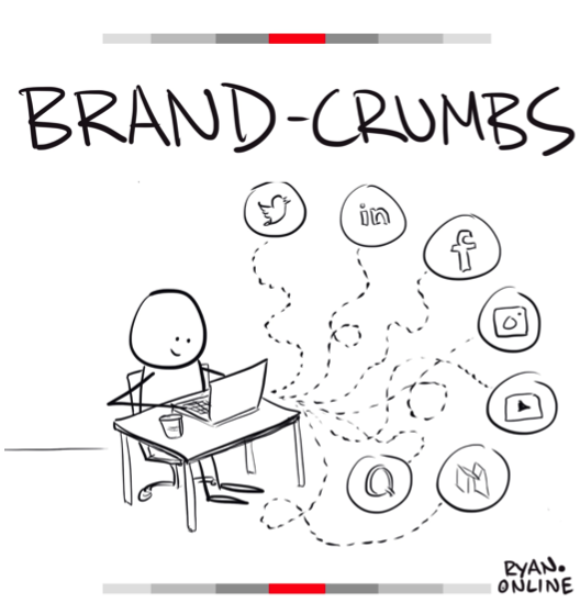 cartoon illustration that states the words brand crumbs