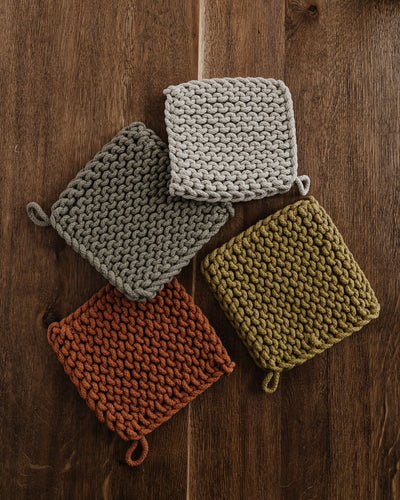 Rustic Crocheted Pot Holder