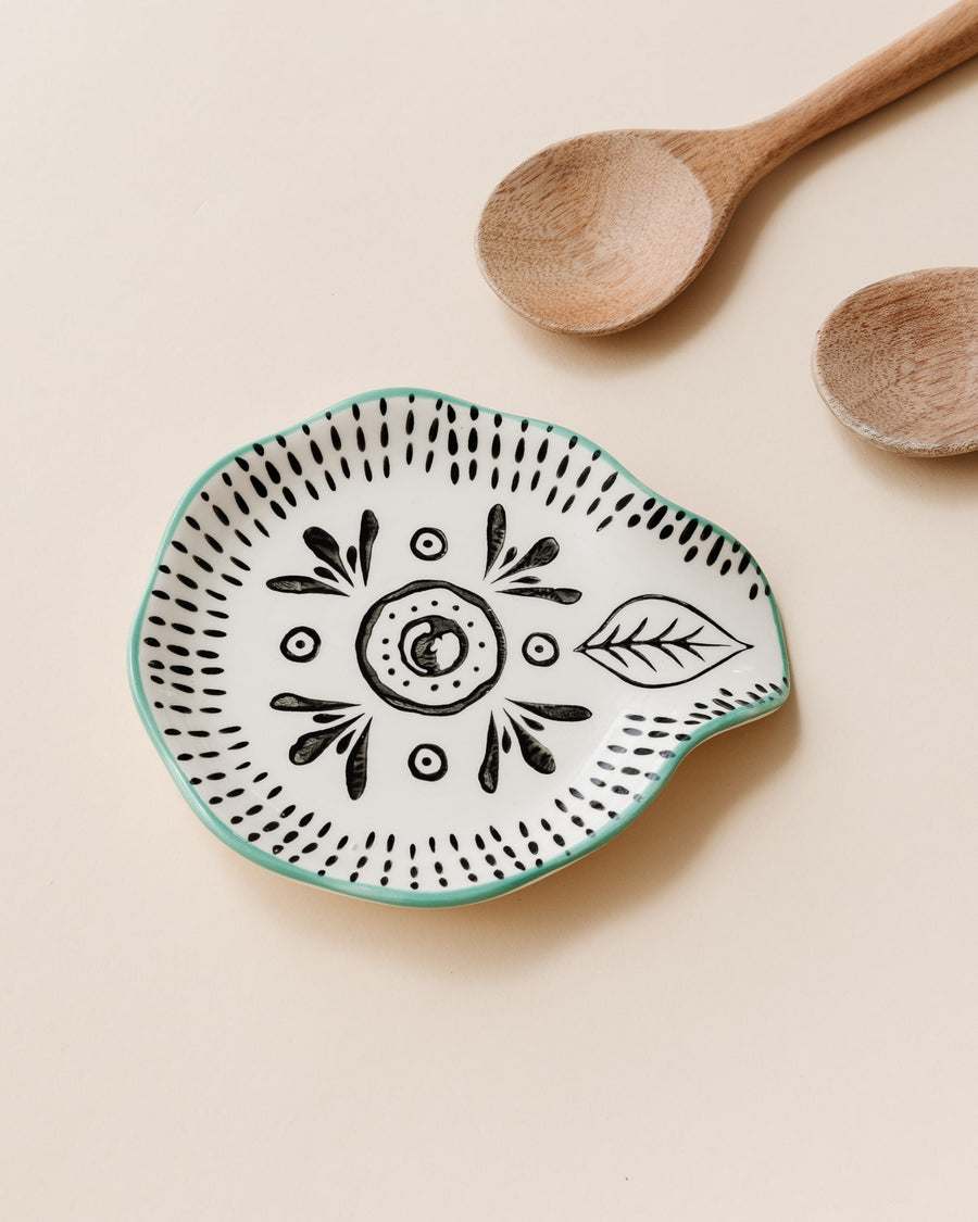 Hand Painted Spoon Rest