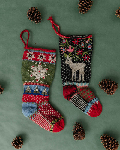 Hand Knit Wool Christmas Stockings