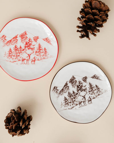 Mountain Scene Holiday Plate