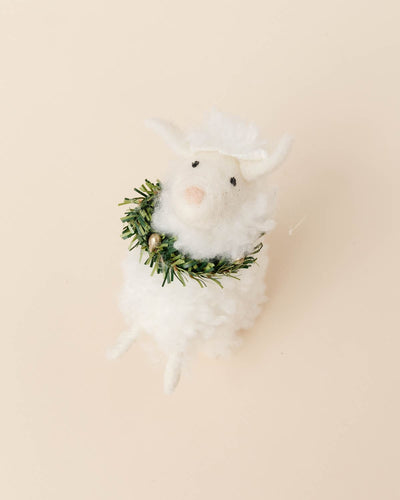 Fluffy Sheep Ornament