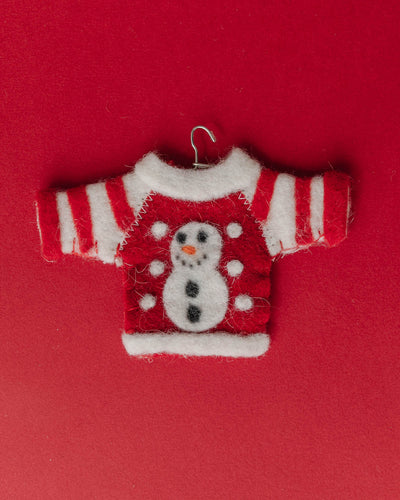 Felted Holiday Sweater Ornaments