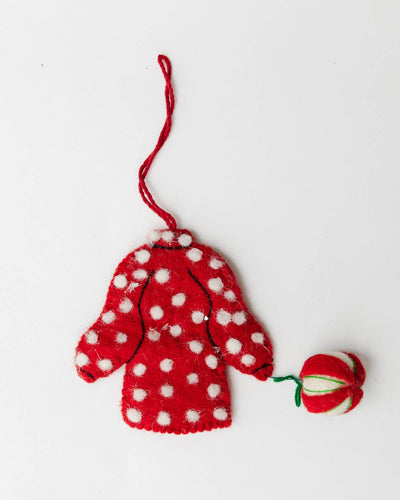 Embroidered Holiday Dress Ornament