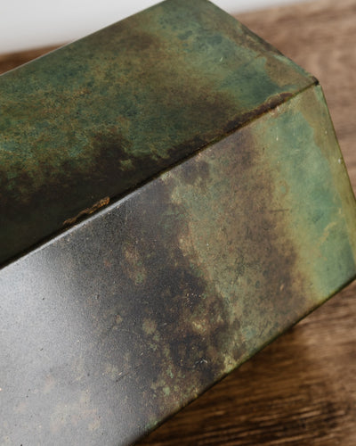 Brass Patina Metal Planter