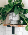 Glazed Stoneware Face Planter