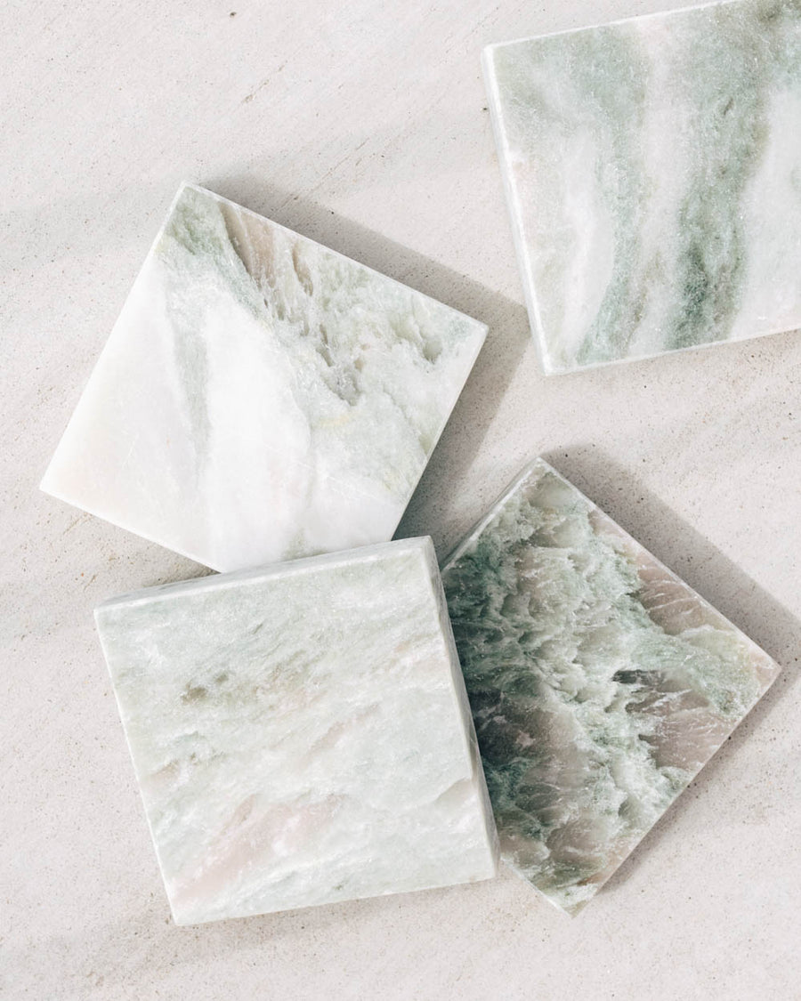Mint Marble Coasters
