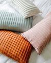 Lillian Pleated Lumbar Pillow Cover
