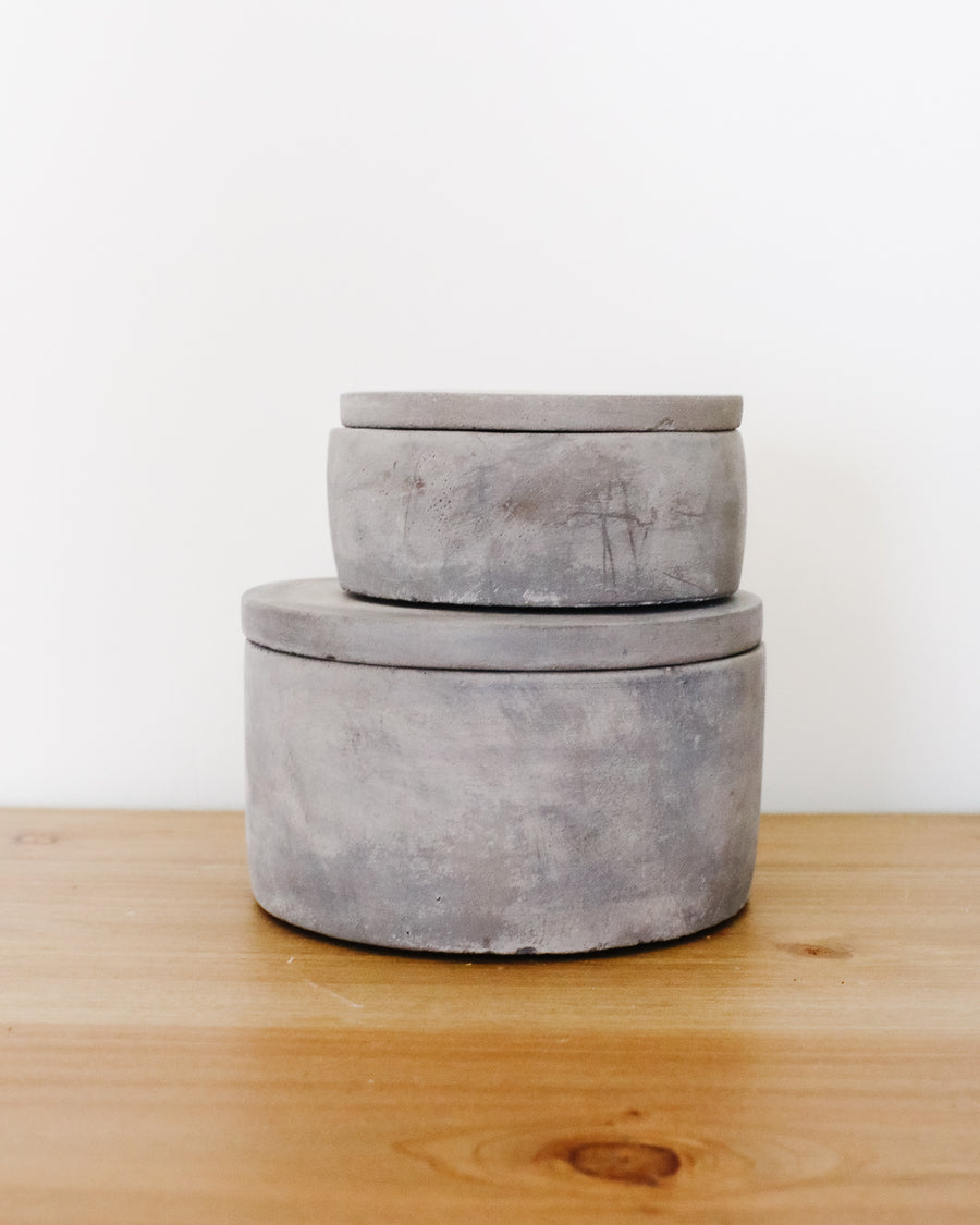 Set of Cement Trinket Boxes