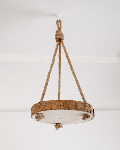 Hanging Wood Slice Plant Holder