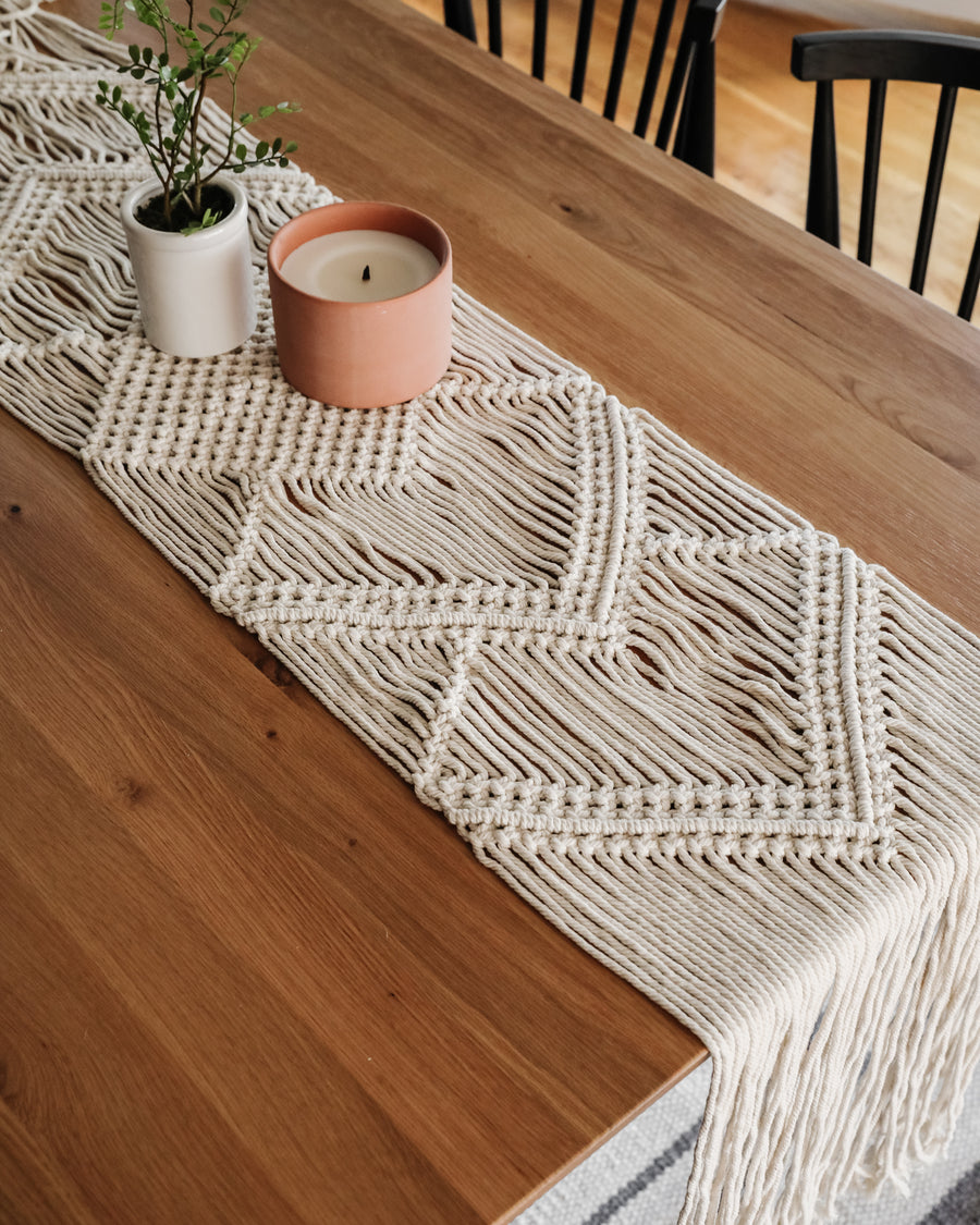 Hand Woven Macrame Table Runner