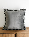 Dibbi Velvet Pom Pom Pillow Cover