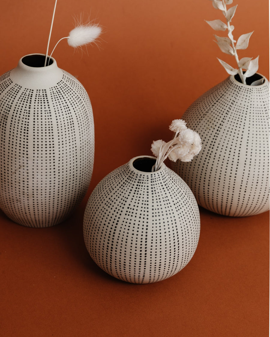 Allaire Textured Stoneware Vases (Set of 3)