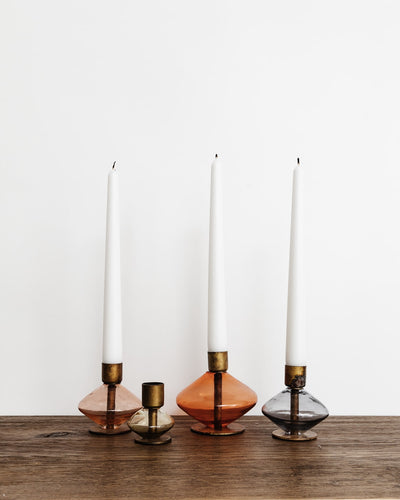 Gem Taper Candle Holder Set