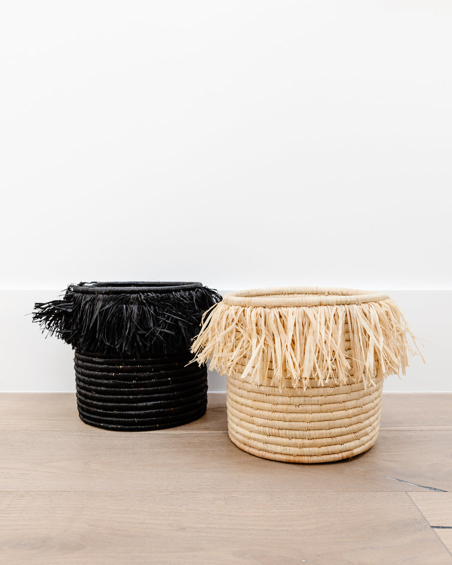 Fringed Catch All Basket