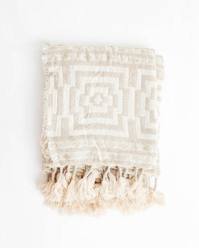 Hypnotic Woven Taupe Throw