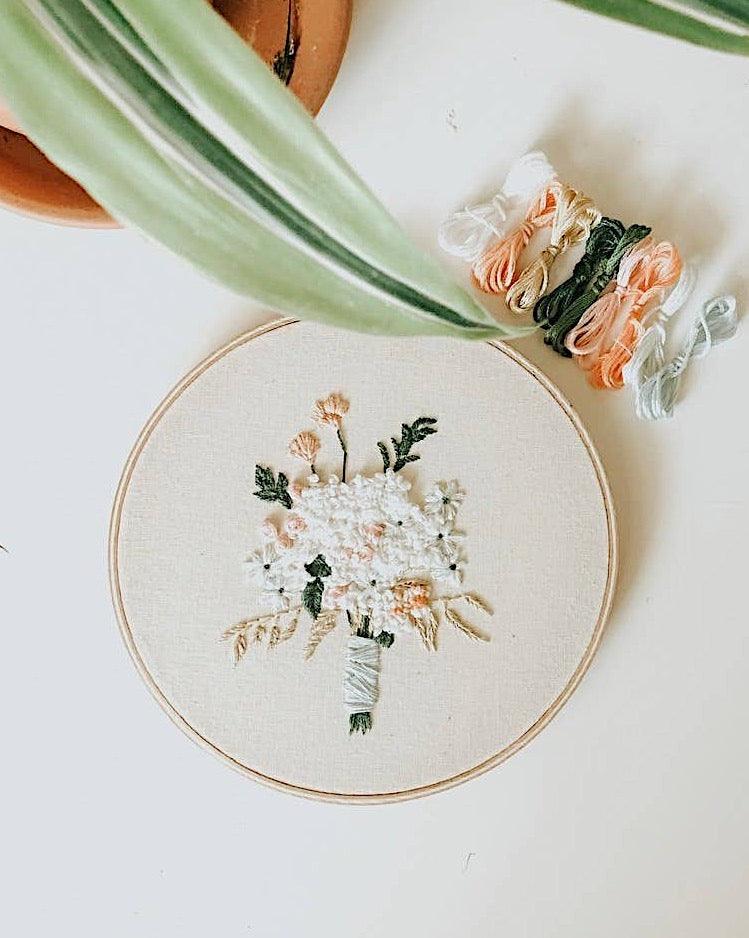 """Floral"" Embroidery Kit"