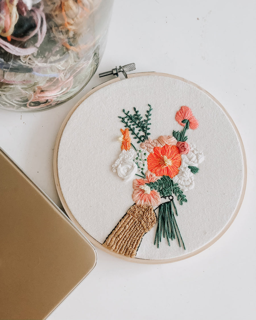 """Galentines"" Embroidery Kit"