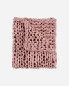Chunky Chenille Knit Throw Blanket