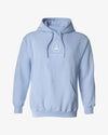 Embroidered Logo Hoodie - Soft Blue