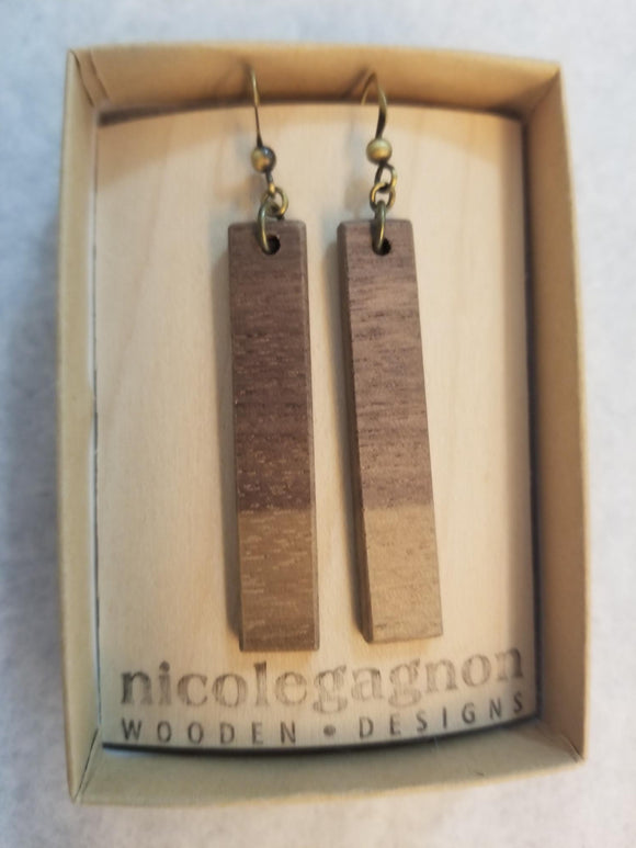 111 ($25) Earrings – Hanging Rectangles