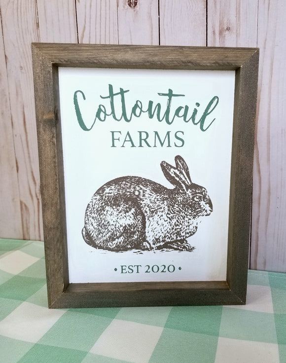 245 ($26) Sign - Cottontail Farms 9