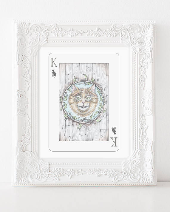 205 ($18) Alice in Wonderland - King of Cats