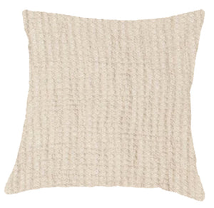 076 ($100) Pillow Cover Hampton - Almond